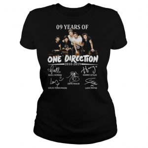 09 Years Of One Direction 2010 2019 Signatures shirt