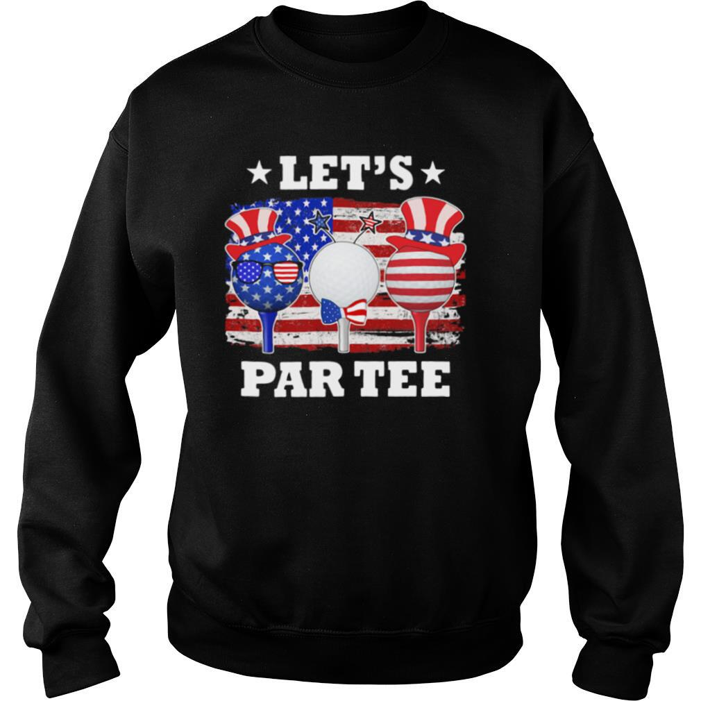 Golf let's par tee american flag independence day shirt