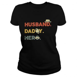 Husband daddy hero football beard happy father's day shirt