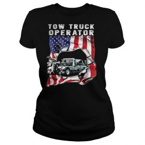 Independence Day flag american tow truck operator shirt