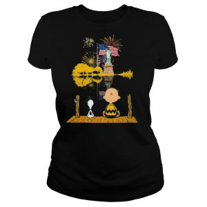 Snoopy and charlie brown firework american flag independence day shirt