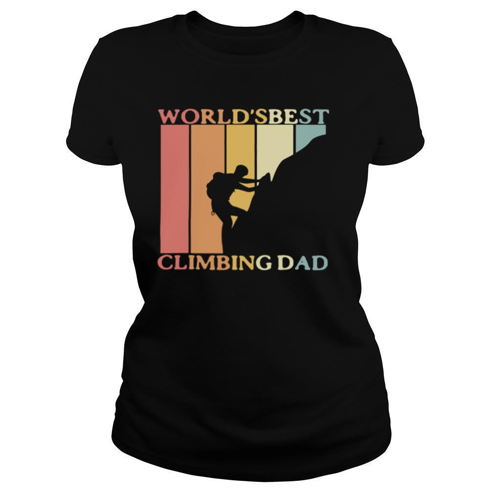 World's best climbing dad happy father's day vintage retro shirt