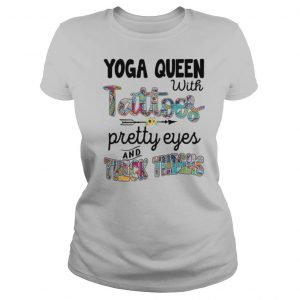 Yoga queen with tattoos pretty eyes and thick thighs sunflower shirt