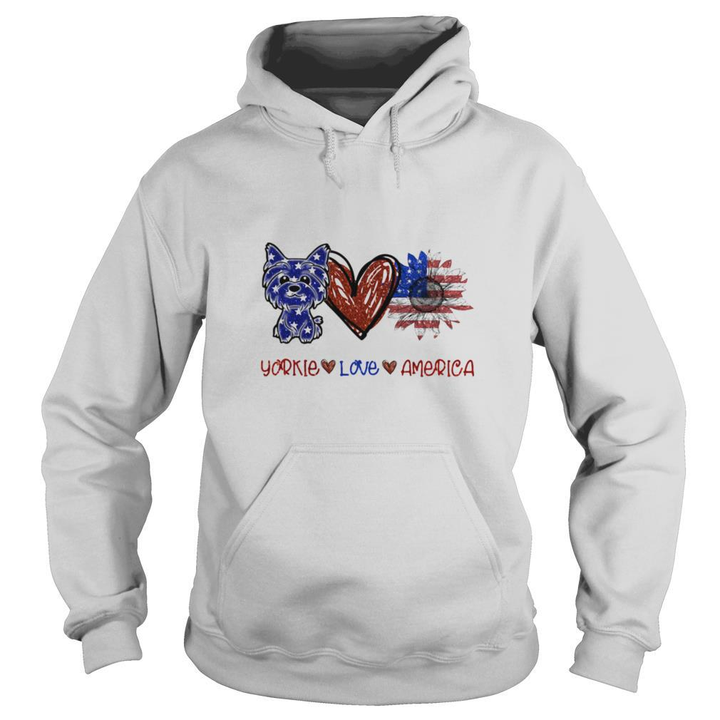 Yorkie love america 4th of july independence day shirt