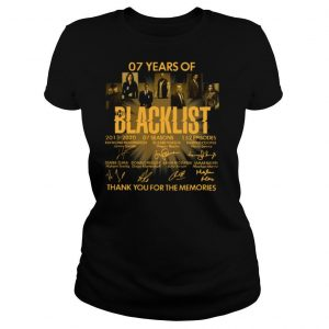 07 Years Of The Blacklist shirt