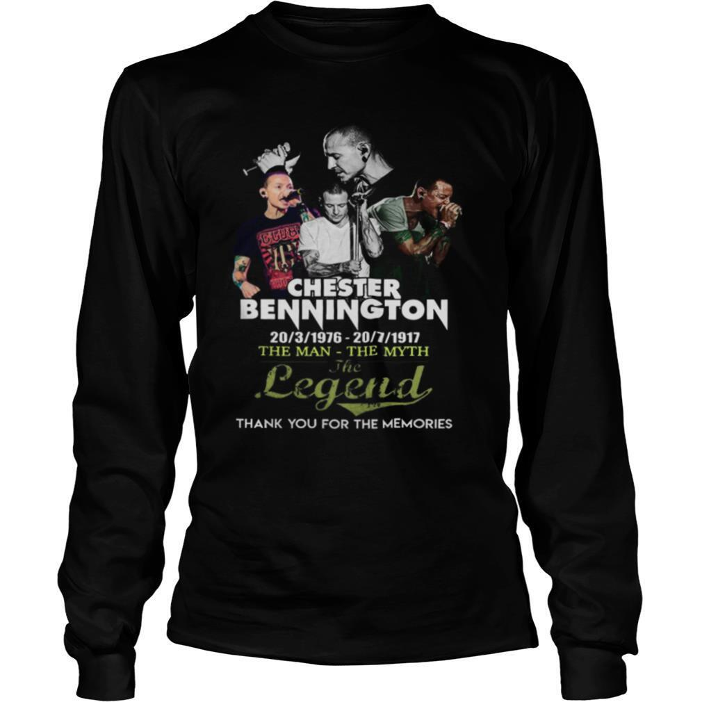 Chester bennington the man the myth the legend thank you for the memories shirt
