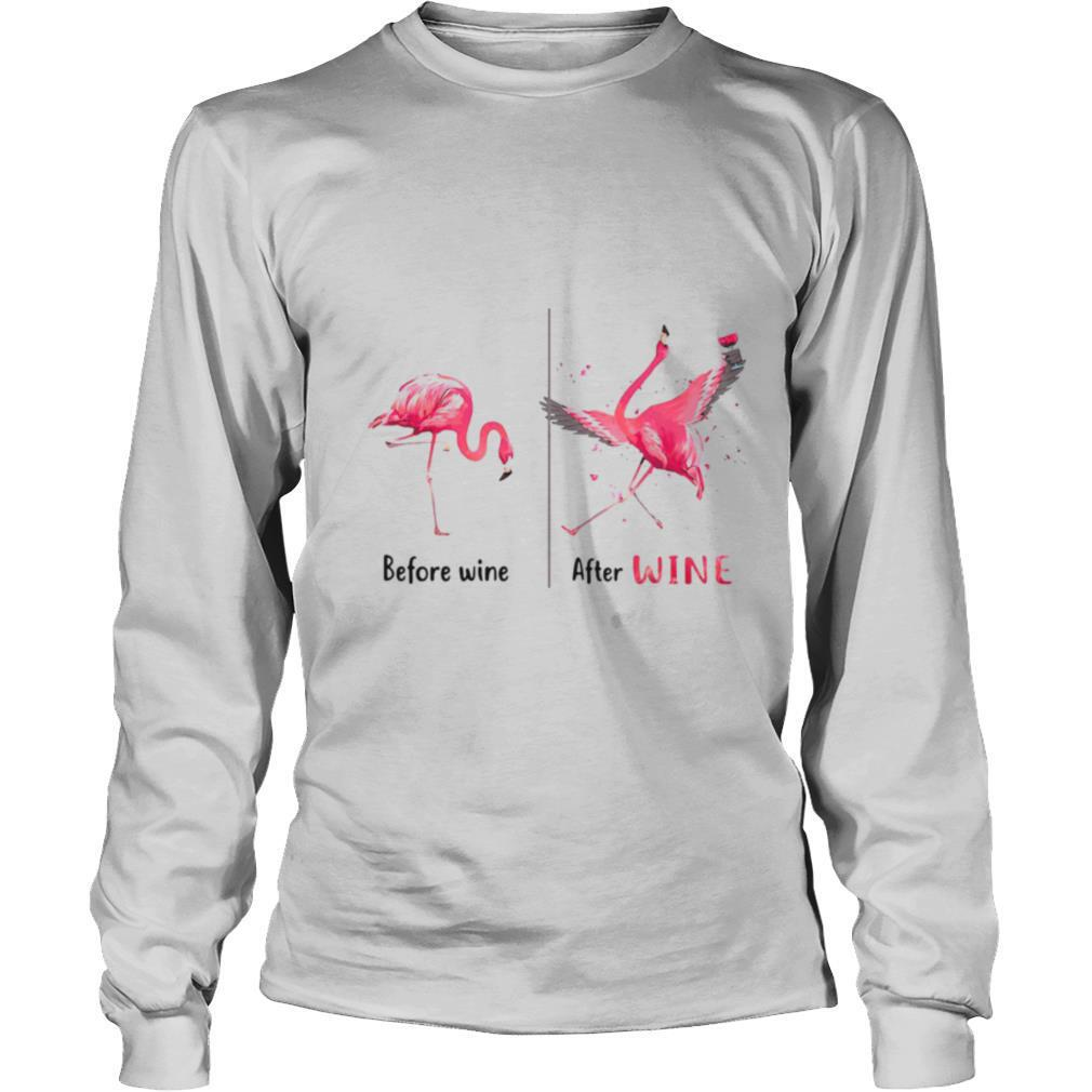 Flamingo Before After Wine shirt