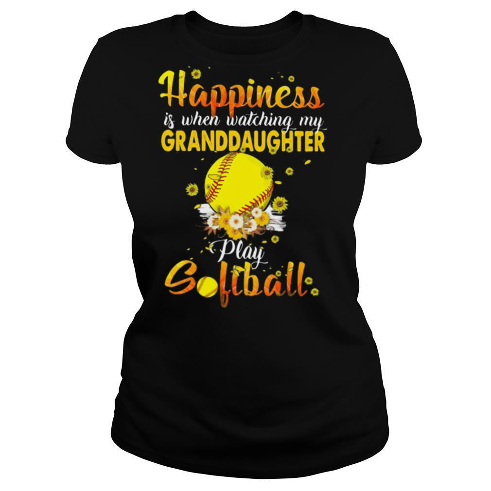 Flower happiness is when watching my granddaughter play softball shirt