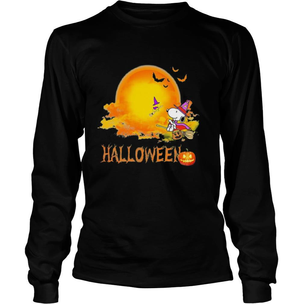 Halloween snoopy and woodstock witch moon shirt