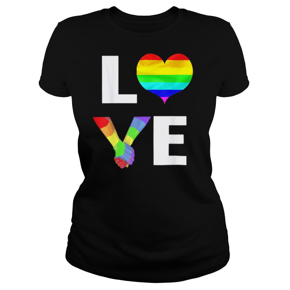 Lgbt rainbow love heart shirt