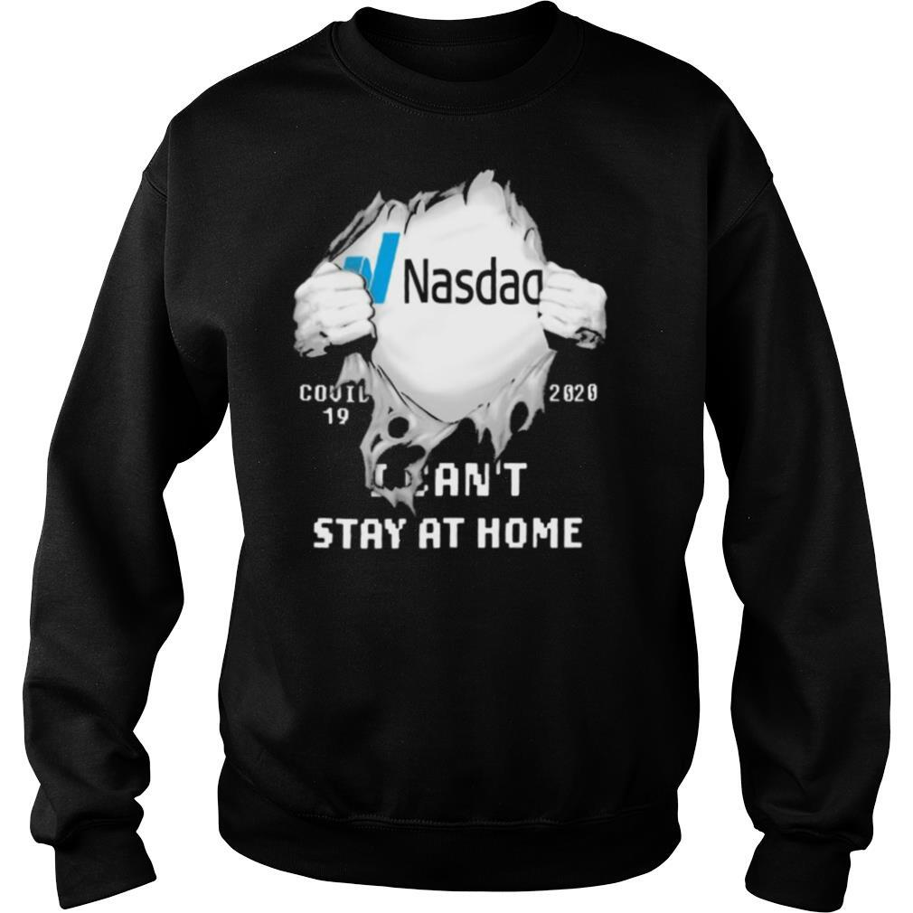 Nasdag I can't stay at home Covid 19 2020 superman shirt