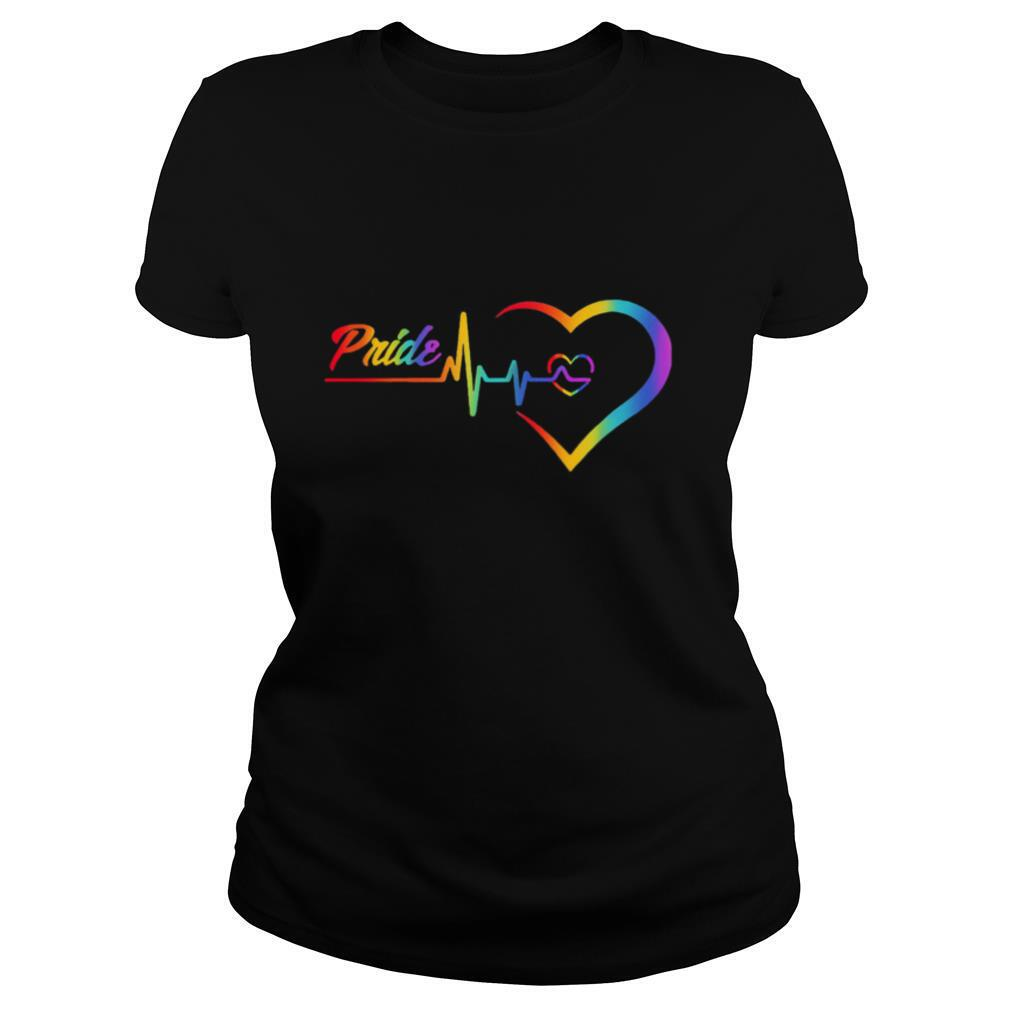 Rainbow Heartbeat Pride Love LGBT shirt