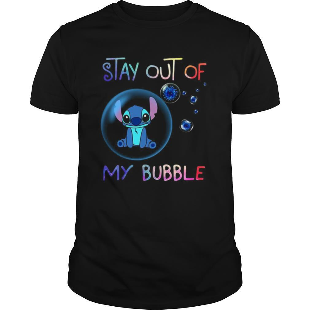Stitch stay out of my bubble covid 19 shirt