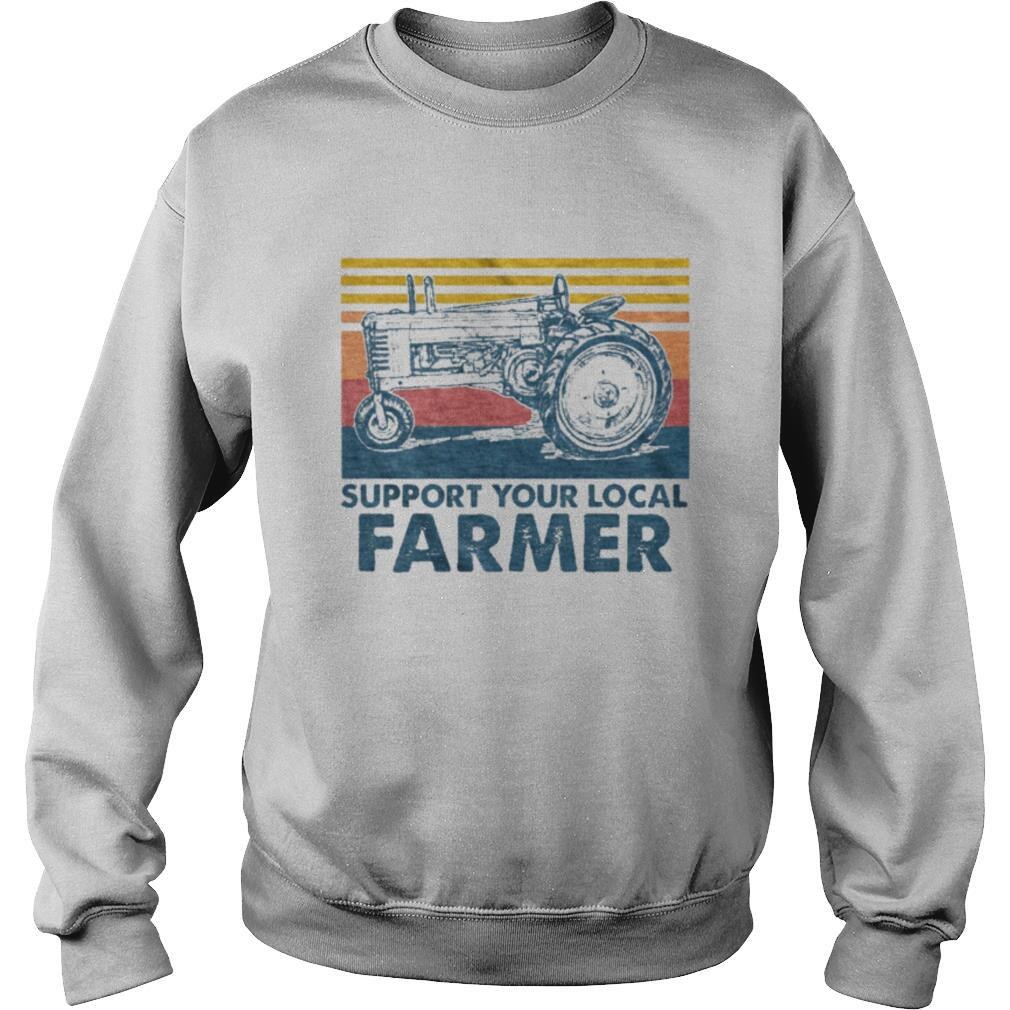 Support Your Local Farmer Agrimotor Vintage Retro shirt