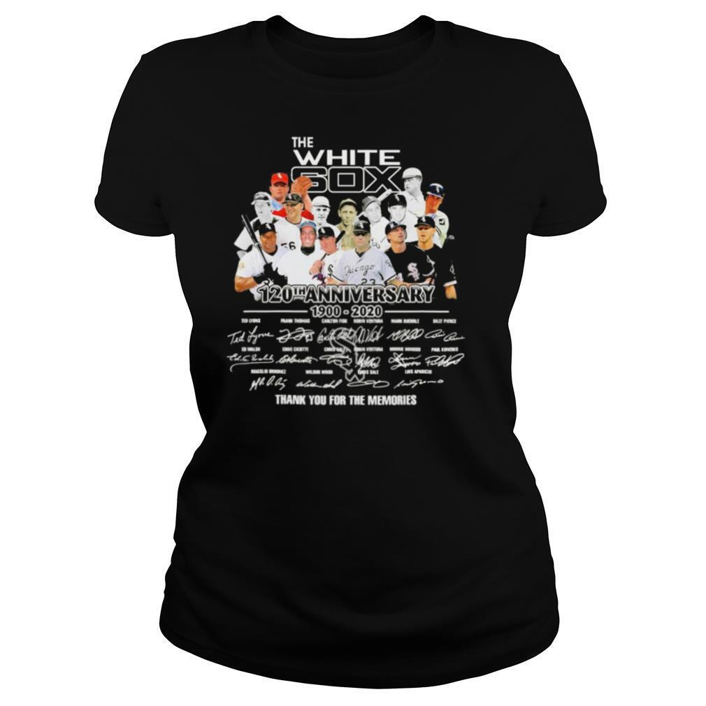The chicago white sox 120th anniversary 1900 2020 thank you for the memories signatures shirt