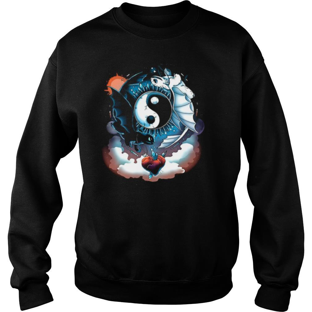 Toothless dragon and his girlfriend heart moon shirt