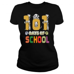 101 Days Of School Dalmation Dog Teachers Gift shirt