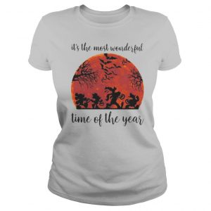 Halloween mickey mouse and friends it's the most wonderful time of the year sunset shirt