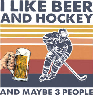 I Like Beer And Hockey And Maybe 3 People Vintage shirt