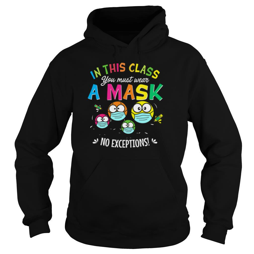 In This Class You Must Wear A Mask No Exceptions shirt