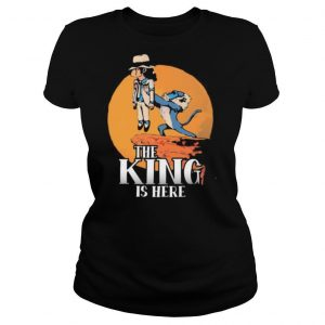 Michael jackson and monkey the king is here shirt