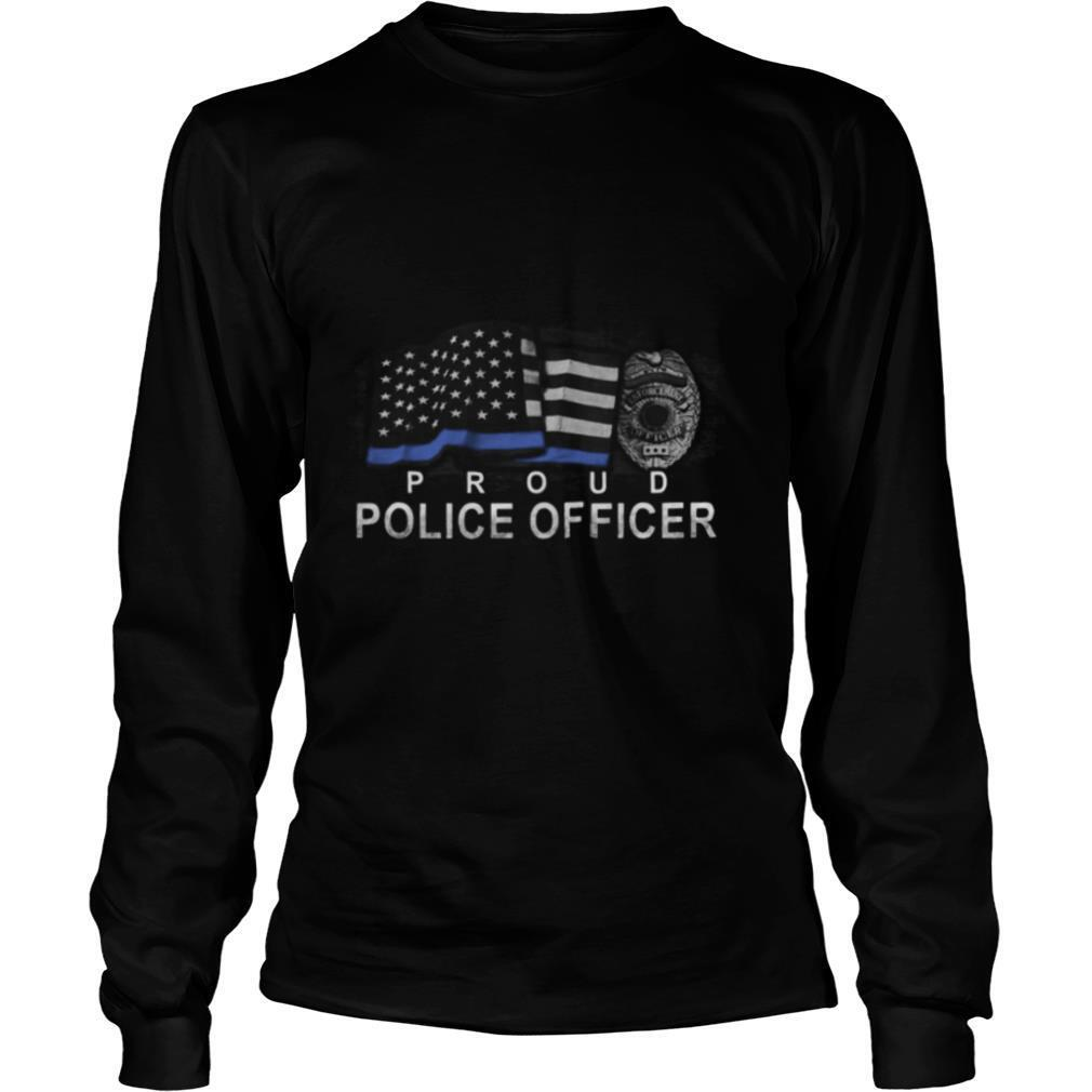 Proud police officer american flag independence day shirt