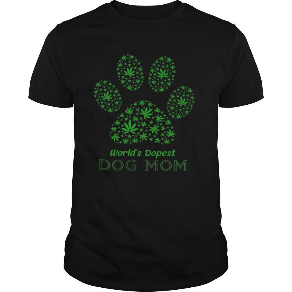 Weed World's Dopest Dog Mom shirt