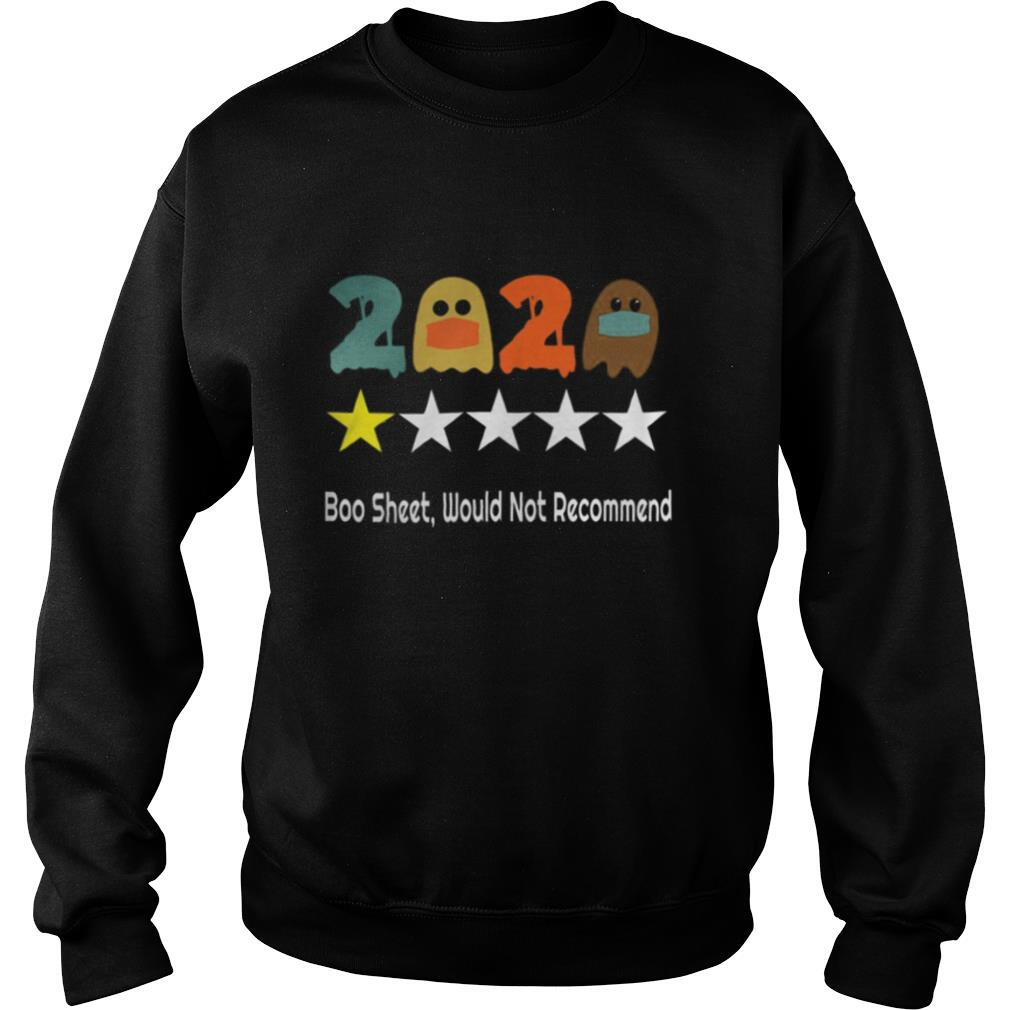 2020 Review One Star Rating Boo Sheet, Would Not Recommend shirt