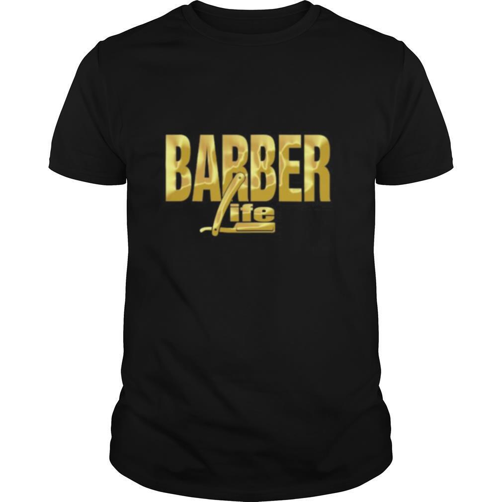 BARBER LIFE GOLD shirt
