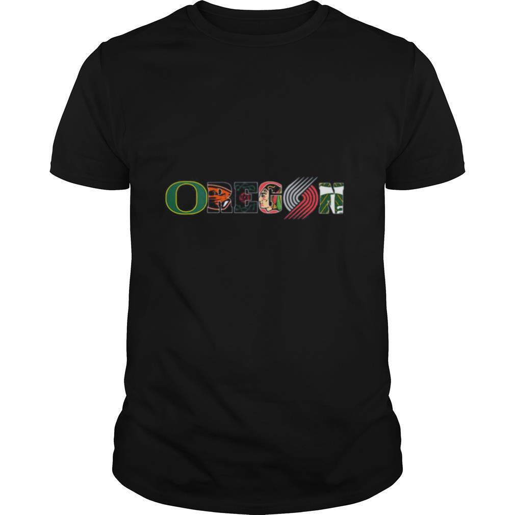 Oregon portland trail blazers logo shirt