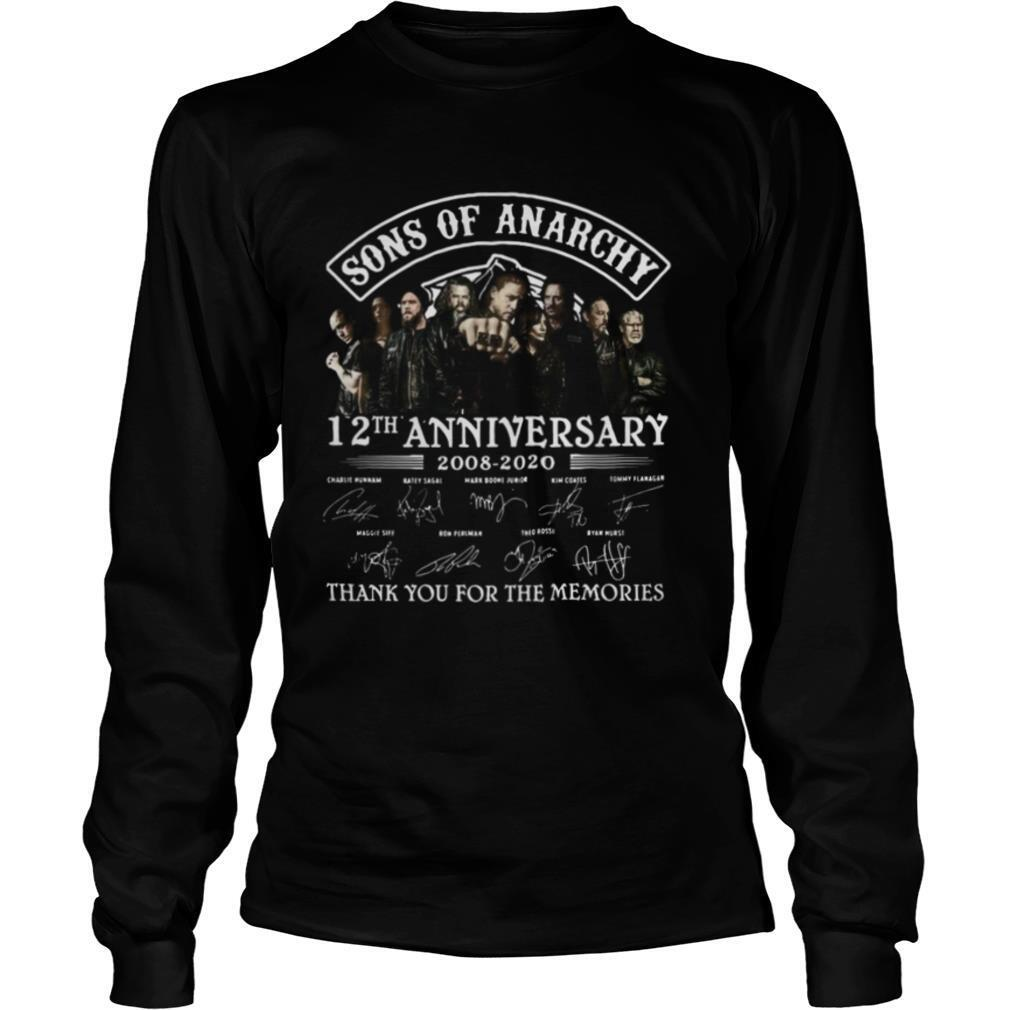 Sons Of Anarchy 12 th Aniversary 2008 2020 Thank You For The Memories Signature shirt