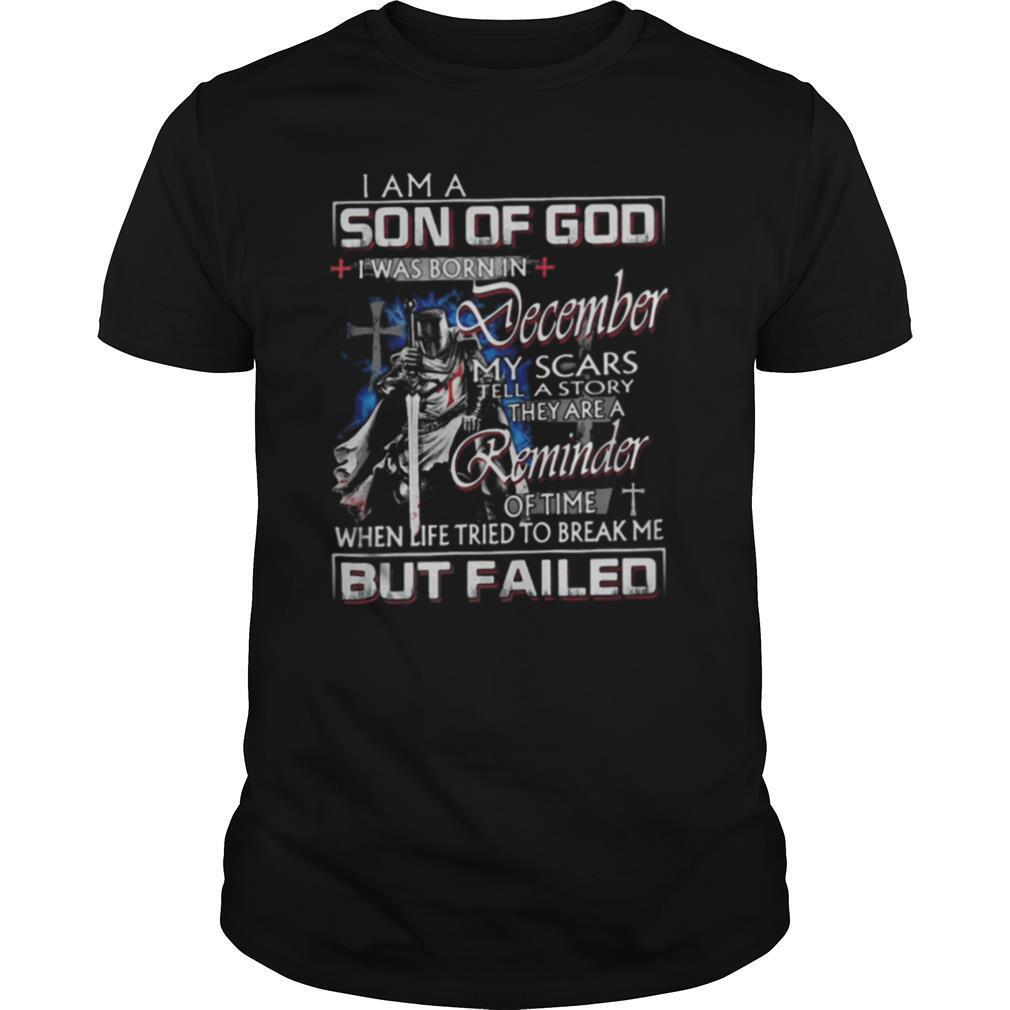 Vikings i am a son of god i was born in december my scars tell a story they are a reminder of time shirt