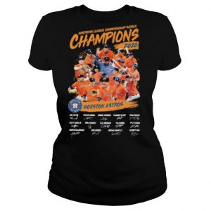 American league championship series champions houston astros signatures shirt
