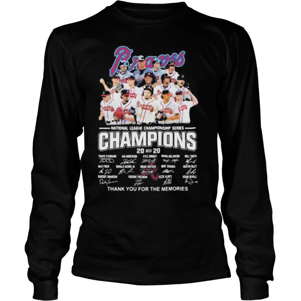 Atlanta braves national league championship series champions 2020 thank you for the memories signatures shirt