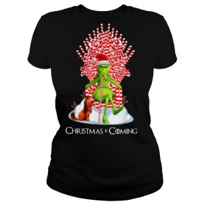 Candy Stick Throne The Grinch And Max Christmas Is Coming shirt