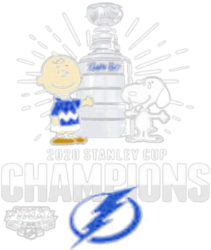 Charlie brown and snoopy tampa bay lightning 2020 stanley cup champions shirt