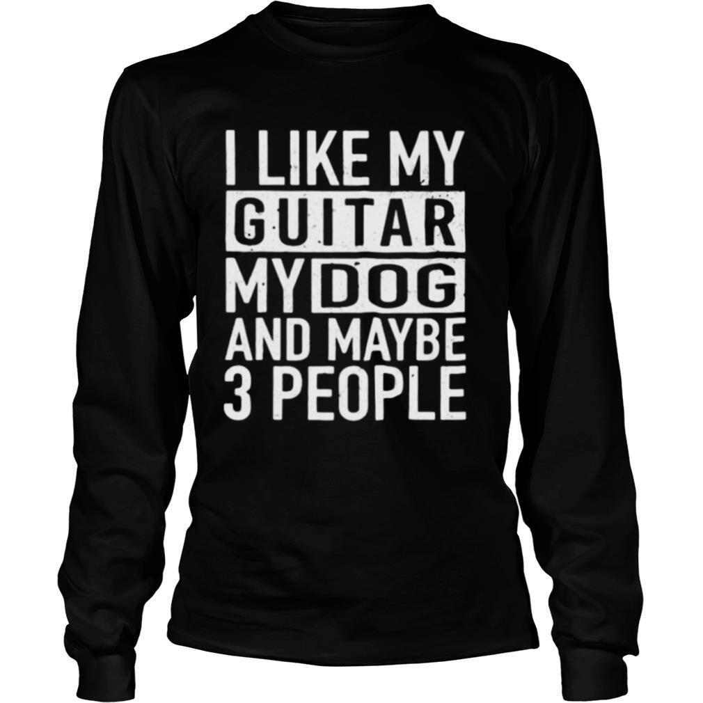 I like guitar and dog and maybe 3 people vintage shirt
