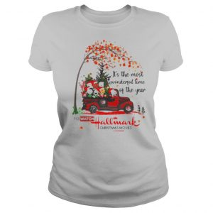 It's the most wonderful time of the year to watch hallmark christmas movies the peanuts leaves tree shirt