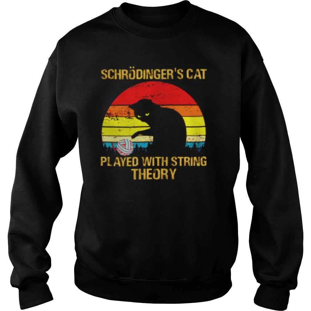 Schrodingers Cat played with string theory vintage shirt