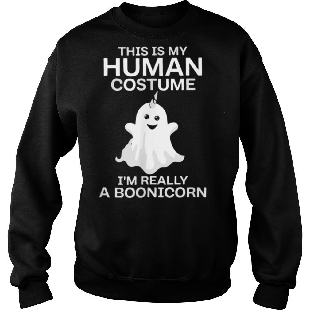 This is My Human Costume Im Really A Unicorn Halloween shirt