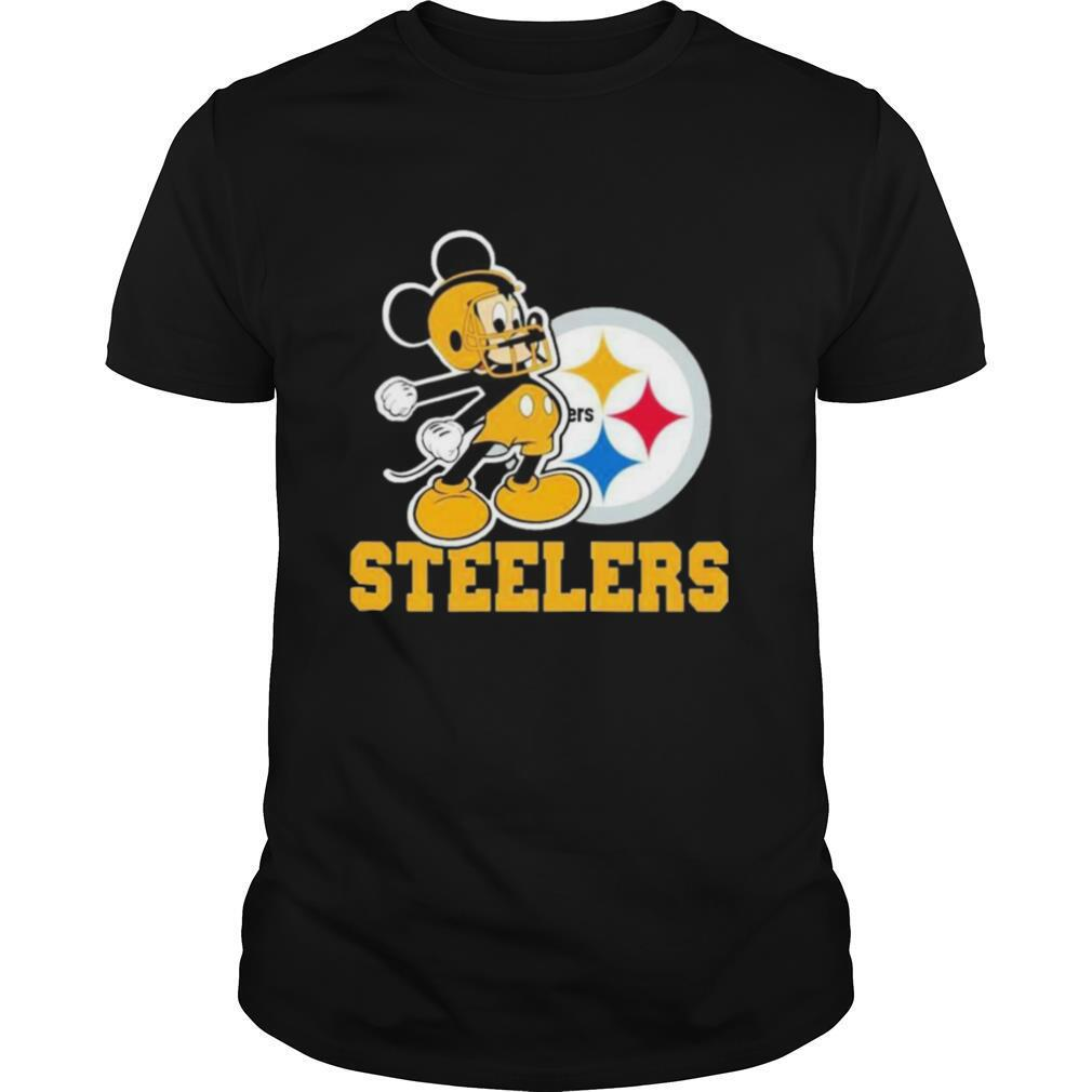 Mickey Mouse Pittsburgh Steelers Football Logo Team shirt