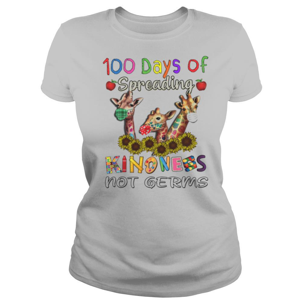 100th Day of Of Spreading Kindness Not Germs shirt