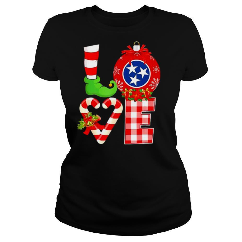 Love flag of Tennessee State Christmas shirt