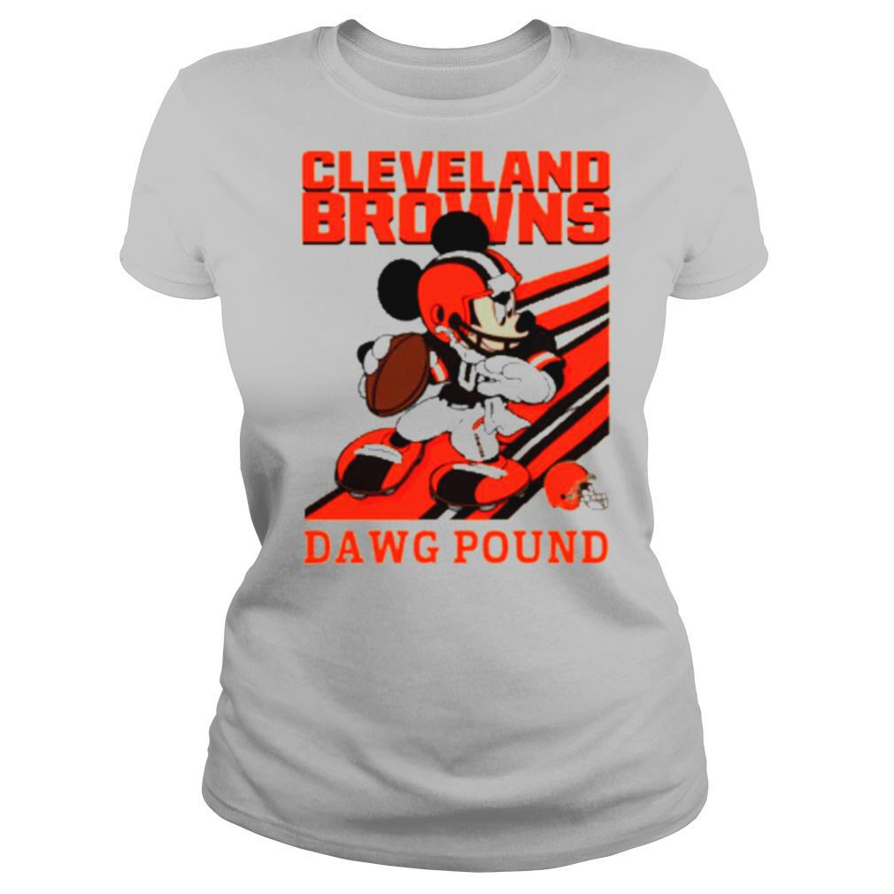 Mickey mouse cleveland browns dawg pound shirt