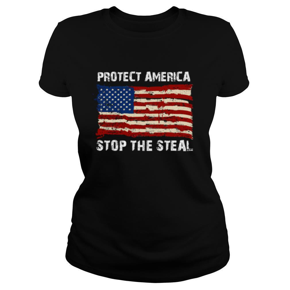 Protect America Stop The Steal Voter Fraud Trump 2020 Us Flag shirt