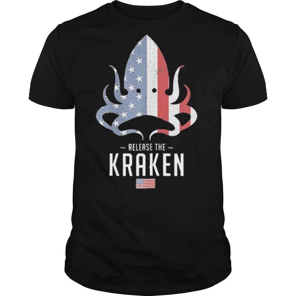 Release The Kraken US Flag shirt