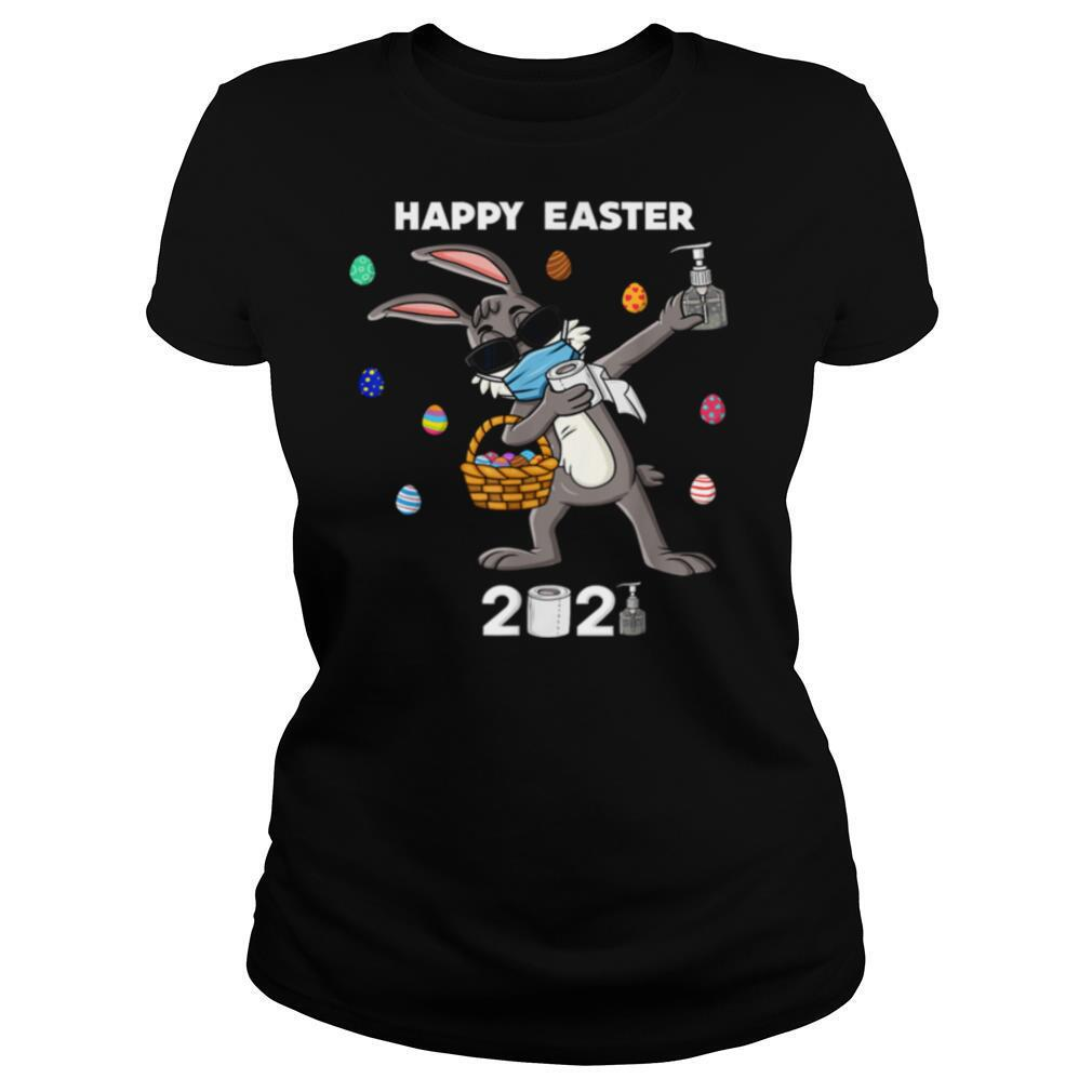 Dabbing Rabbit In A Mask Easter Day 2021 shirt