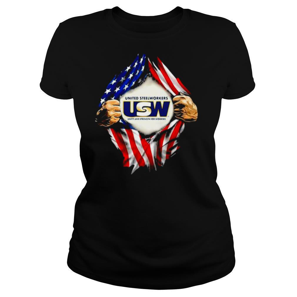Superman United Steelworkers Unity And Strength For Workers American Flag shirt
