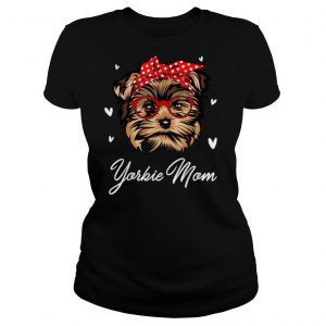 Yorkie Mom Leopard Print Dog Lovers Mother Day Gift T Shirt
