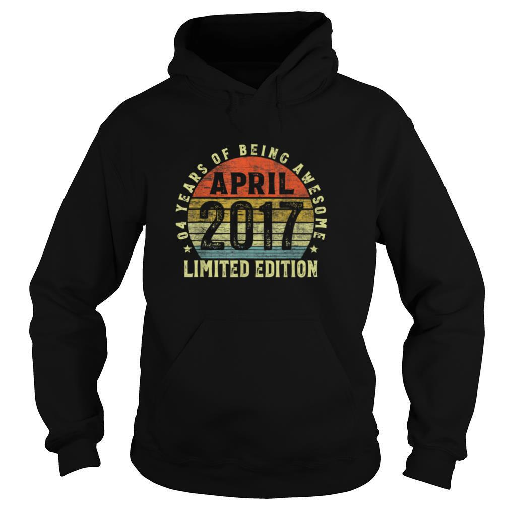 Vintage April 2017 Limited Edition 4 Years Old Gift 4th T Shirt